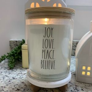 Rae Dunn Joy Love candle